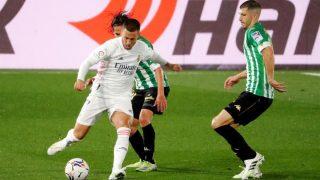 Hazard durante un partido contra el Betis. (
