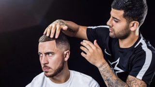 Hazard y su peluquero (Instagram)
