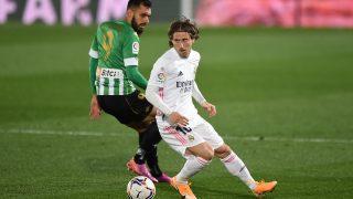 Luka Modric, en el partido contra el Betis. (Getty)