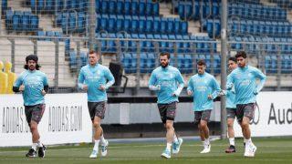 Kroos, durante un entrenamiento. (Realmadrid.com)