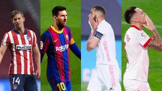 El calendario que le queda a Real Madrid, Barcelona, Atlético y Sevilla en la lucha por el título de la Liga Santander.