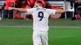Karim Benzema celebra un gol con el Real Madrid (EFE).
