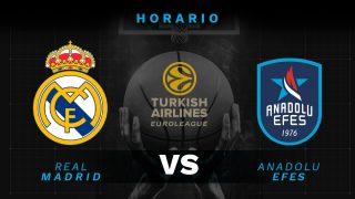 Real Madrid – Andadolu Efes: hora y cómo ver por televisión el partido de la Euroliga.