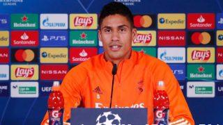 Varane, durante una rueda de prensa. (Realmadrid.com)