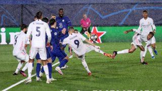 Benzema remata a gol. (Getty)