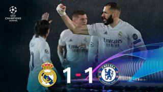 Real Madrid y Chelsea empataron a uno en la ida de las semifinales de la Champions.