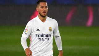 Hazard, en un partido del Real Madrid (AFP)