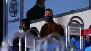 Sergio Ramos en el Alfredo di Stéfano viendo el Real Madrid-Chelsea. (Getty)