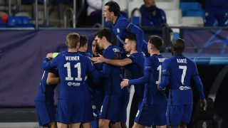 Los jugadores del Chelsea celebran el gol de Pulisic al Real Madrid (Getty)