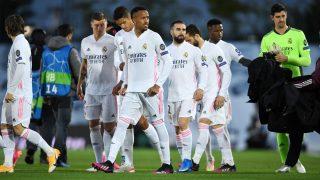 Los jugadores del Real Madrid antes del partido contra el Chelsea. (Getty)