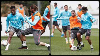 Ramos vuelve con el grupo y apunta al Chelsea. (realmadrid.com)
