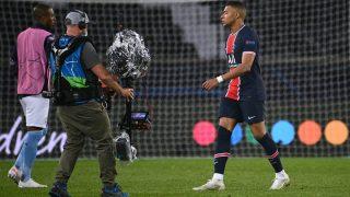 Mbappé, a la conclusión del PSG – Manchester City. (AFP)