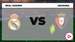 Real Madrid – Osasuna: hora y dónde ver el partido de la Liga Santander hoy por TV.