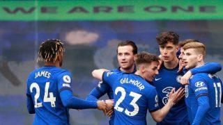 Los jugadores del Chelsea celebran uno de los goles ante el Fulham. (Getty)