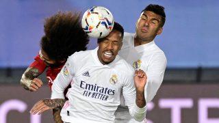 Militao, en la jugada del gol inicial. (AFP)