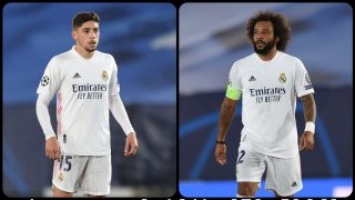 Valverde y Marcelo. (Getty)