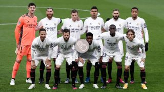 Los jugadores del Real Madrid en el partido contra el Chelsea.