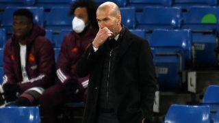 Zidane, en el partido de Champions contra el Chelsea. (AFP)