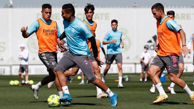 Sergio Ramos, Vinicius y Valverde, ausentes en el entrenamiento