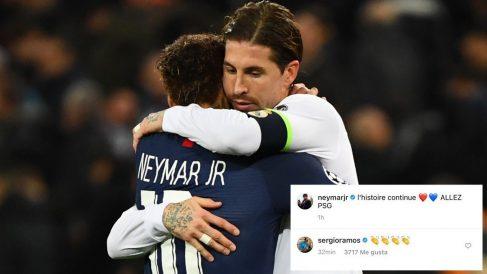 Sergio Ramos aplaudió la renovación de Neymar.
