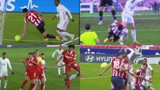 Manos no pitadas a favor del Real Madrid.