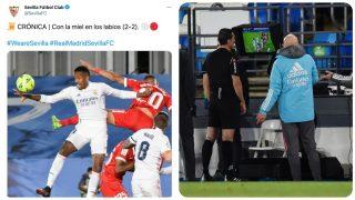 El Sevilla provocó al Real Madrid.