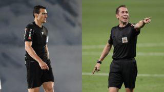Martínez Munuera y González González, reincidentes contra el Madrid (Getty).