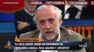 Eduardo Inda, en su intervención en El Chiringuito.