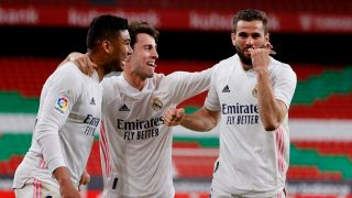 Nacho celebra un gol ante el Athletic. (EFE)