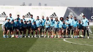 El Real Madrid se hace una foto de grupo. (Realmadrid.com)