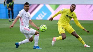 Casemiro, durante un partido ante el Villarreal. (AFP)