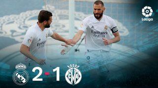 El Real Madrid venció 2-1 al Villarreal.