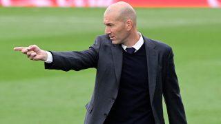 Zidane, durante un partido del Real Madrid. (AFP)