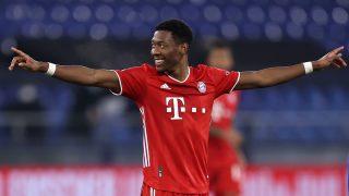 David Alaba, en un encuentro con el Bayern de Múnich. (Getty)