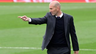 Zidane, en su último partido con el Real Madrid en Liga (AFP)