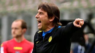 Antonio Conte, durante un partido del Inter de Milán (AFP).