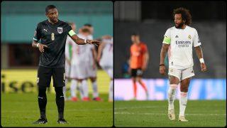 David Alaba y Marcelo. (Getty)