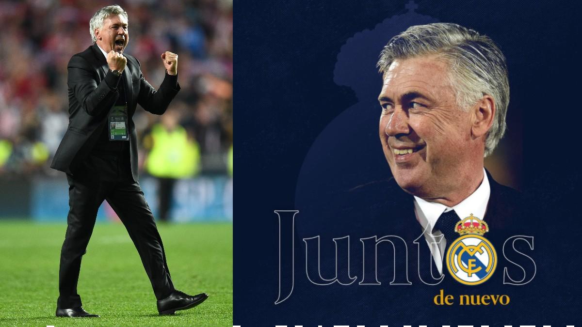 """Ancelotti celebra su fichaje: """"Juntos de nuevo, ¡hala Madrid!"""""""