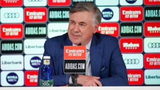 Carlo Ancelotti, durante la rueda de prensa. (Realmadrid.com)