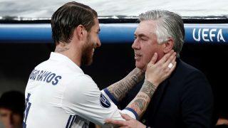 Sergio Ramos, con Ancelotti. (Getty)