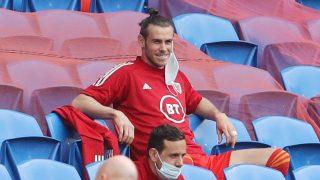 Gareth Bale, durante el último partido de Gales previo a la Eurocopa (AFP).