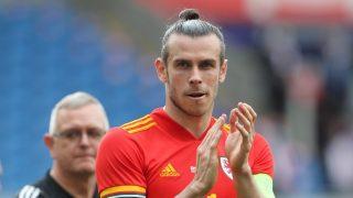 Gareth Bale, durante un partido de Gales (AFP).