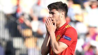 Brahim Díaz, durante un partido con España sub-21 (Getty).