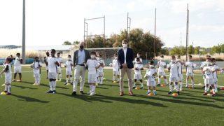 El acto de la Fundación Real Madrid en Fuenlabrada. (RealMadrid)