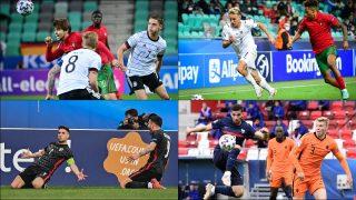 Algunos de los jugadores que ha espiado el Real Madrid en el Europeo Sub21.
