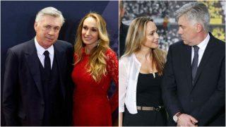 Mariann Barrena y Carlo Ancelotti.