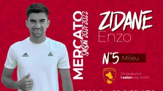 Enzo Zidane, nuevo jugador del Rodez.