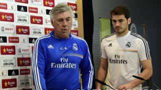 Ancelotti y Casillas, en la primera etapa del técnico en el Real Madrid. (AFP)