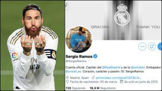Sergio Ramos da las gracias al Real Madrid.