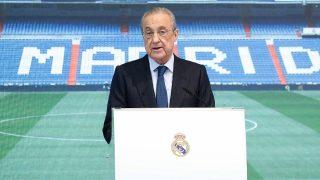 Florentino Pérez, en un acto del Real Madrid (realmadrid.com).